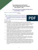FLO 2D Pro Model Revisions Build No 17.08.17