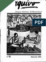 Boletim Do Arquivo Histórico de Moçambique Nº15 - Abril de 1994