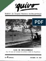 Boletim Do Arquivo Histórico de Moçambique Nº4 Especial - Outubro de 1988