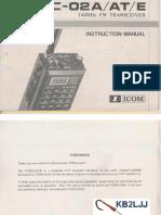 Icom IC-02 Instruction Manual