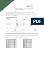 Cuestionario Para Egresados y Encuesta de Satisfaccion Para Egresados