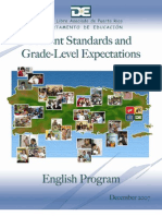 English Content Standards and Grade Level Expectations