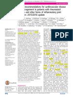 Recomandari EULAR Pt Riscul CV in Bolile Inflamatorii
