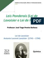 6ª Aula - Lei de Lavoisier e Lei de Proust