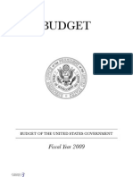 2009 Federal Budget Document