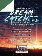 Claz'Camp 2018 - Dreamcatcher <e-Brochure>