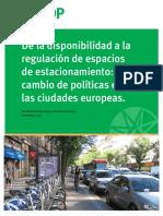 Estacionamiento y Cambio de Plíticas en Europa