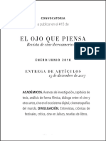 El Ojo Que Piensa 15 - Call for Papers
