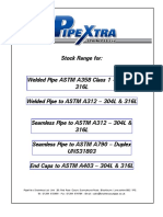 PipeXtra Size Charts