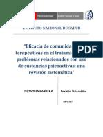 Nota Técnica-2_Eficacia de Comunidades Terapéuticas en El Tratamiento Sustancias Psicoactivas Una Revisión Sistemática