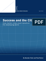 Success & the City How Charter Cities Could Transf He Dev World April 2012