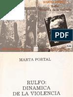 Rulfo. Dinámica de La Violencia - Marta Portal