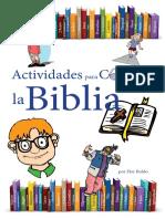 Actividades Para Conocer La Biblia