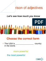 Comparison of Adjectives Practice