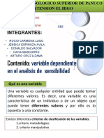 Exposicion Variable Dependiente