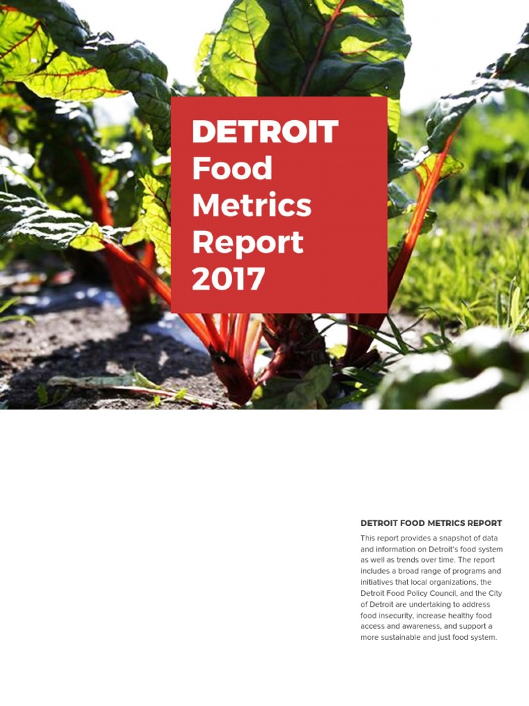 Detroit Food Metrics Report Food And Drink Food Wine