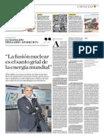 La Fusión Nuclear Es El Santo Grial de La Energía Mundial