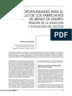 Mª Luz Peláez Ramos OPORTUNIDADES PARA EL DESARROLLO DE LOS FABRICANTES DE BIENES DE EQUIPO ANÁLISIS DE LA SITUACIÓN  Y EVOLUCIÓN DEL SECTOR