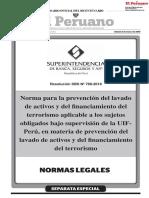 LO QUE DICE LA NORMA DE LA SBS PARA LA PREVENCIÓN DEL LAVADO DE ACTIVOS Y EL TERRORISMO