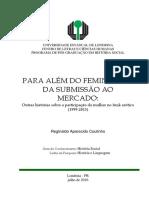 PARA ALÉM DO FEMINISMO E DA SUBMISSÃO AO MERCADO