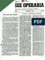 A Classe Operária 1969 Janeiro 1