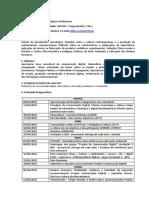 Plano de Ensino - Comunicação Digital e Multimeios 2018-1