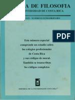 Revista de Filosofía UCR Colegios Profesionales