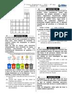 2ª P.D. - 2015 (Ciências 9º Ano) - BLOG Do Prof. Warles