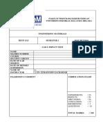 Lab Sheet Impact Test