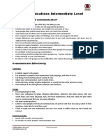 Communication Notes and Qs
