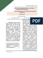 Aproximaccion a La Epistemologia de La Educacion Terapeutica en Diabetes