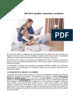 FC21. DÍA de LA MUJER 2018. Igualdad, Maternidad, Conciliación