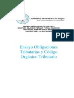 Ensayo Legislacion Fiscal Obligaciones Tributarias