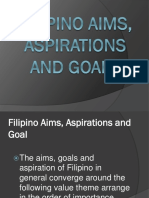 Filipino Aims Aspirations and Goals
