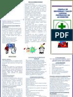 Triptico Charla de Prevencion de Accidentes-2018