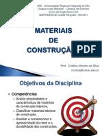 Aula 1 - Introdução Aos Materiais de Construção - 2014_2