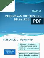 Bab 3. PDB Orde 1 New