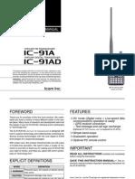 Icom IC-91A_AD Instruction Manual