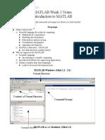 Matlab Notes Week 1