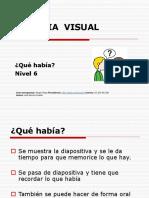 Memoria Visual Nivel 6