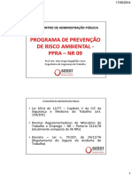 Programa de Prevenção de Risco Ambiental - Ppra Nr 09