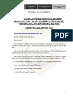 Ley de La Carrera y Situacion Del Personal de La Pnp