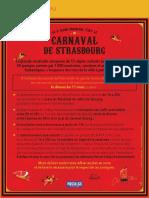 Le parcours du Carnaval de Strasbourg 2018