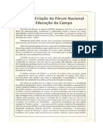 Carta de Criação Do Forum Nacional Da Educaçaõ Do Campo