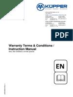 Terminos y condiciones de garantia