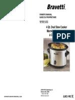 Bravetti Slow Cooker Kc241b User Manual