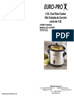 Euro Pro Slow Cooker Kc241 User Manual