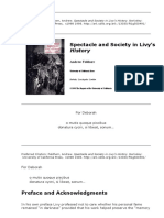 Andrew Feldherr - Spectacle and Society in Livy's History
