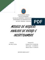 8 - Modelo de Negocio Análisis de Riesgo e Incertidumbre