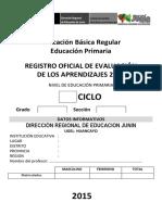 Registro Oficial de Evaluacion Primaria 2015 Final